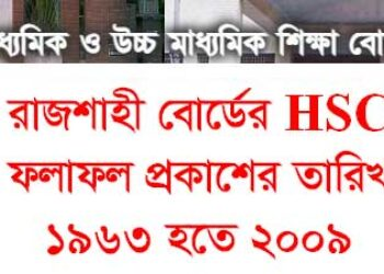 HSC Results Publish Date 1963 to 2009